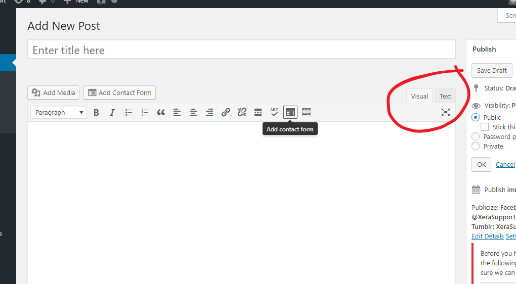 The WordPress tutorial to publish a blog post: Step 1! Write the post.
