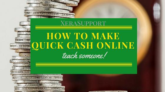 Make Quick Cash Online: Teach something