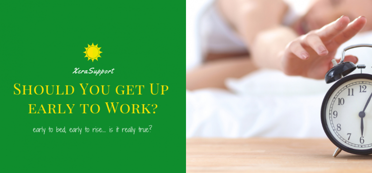 Should You Get Up Early to Work?