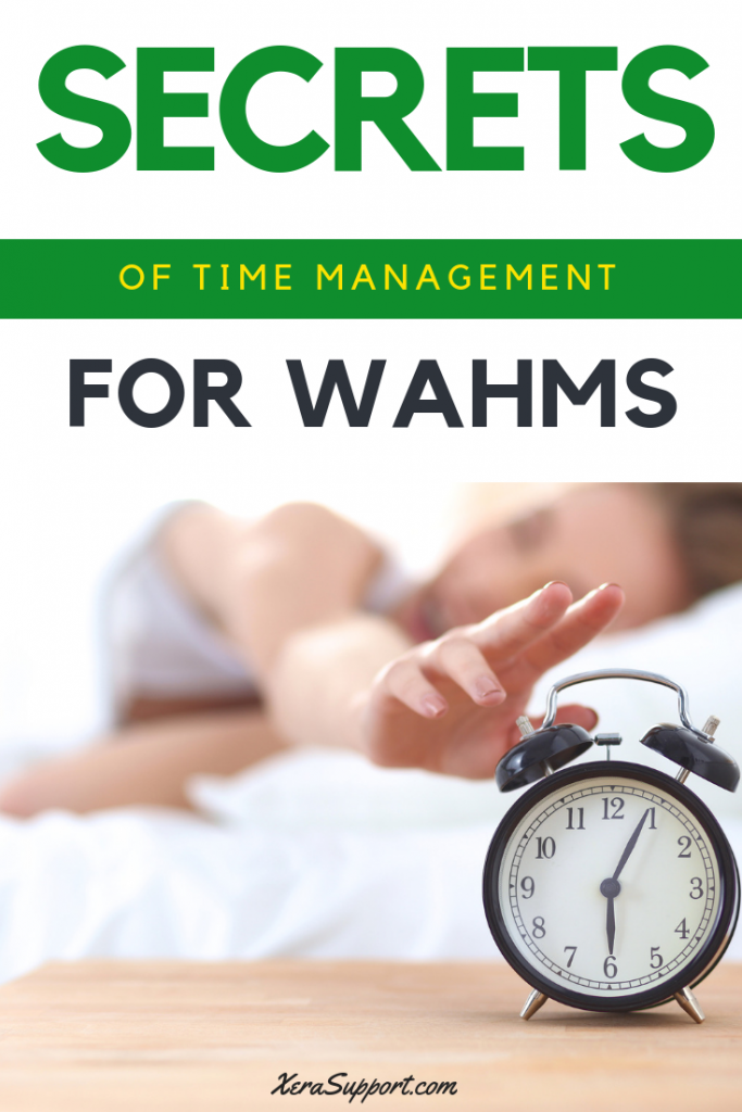 When you're a #WAHM, time can seem crazy short. Are there #timemanagement secrets that we don't know about?