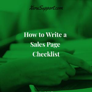 Sales Page Checklist
